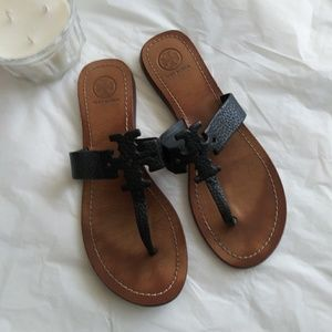 Tory Burch Moore Black Sandals 9